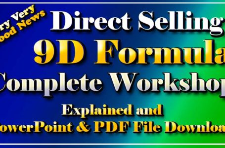 Direct Selling 9D Formula Complete Workshop and PowerPoint and pdf Files Download in Hindi by Angesh Kumar
