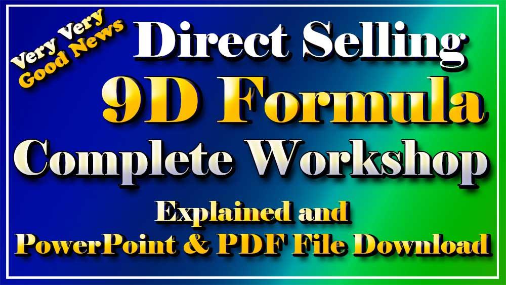Direct Selling 9D Formula Complete Workshop in Hindi