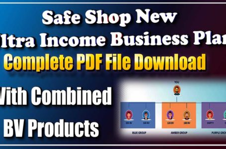 Safe Shop Plan PDF Files Download Safe Shop New Ultra Income Business Plan Complete PDF Files Download 2020