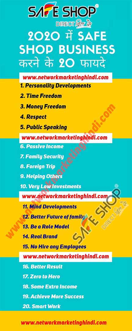 2020 में Safe Shop Business करने के 20 फायदे Network Marketing Hindi