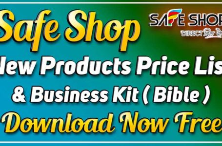 Safe Shop Products List Pdf file Download and Evolve India Business Kit Free