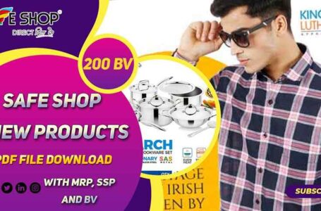 Safe Shop New Products pdf file Download 2020 with MRP SSP and BV