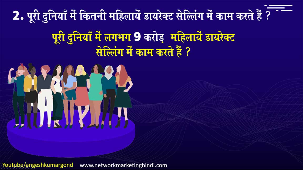 Direct Sellng or Network Markeitng Facts in Hindi 2021 to 2025 (8)